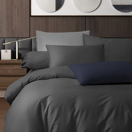 King Koil Colour Palette Fitted Sheet Set SC01006 (Charcoal)