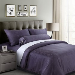 DORMA LORETTA TENCEL JAC FITTED SHEET -  90013 (PURPLE)