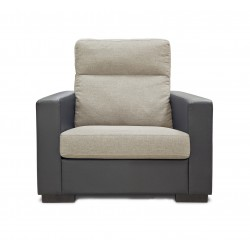 King Koil Denver 1 Seater Sofa (Latte)