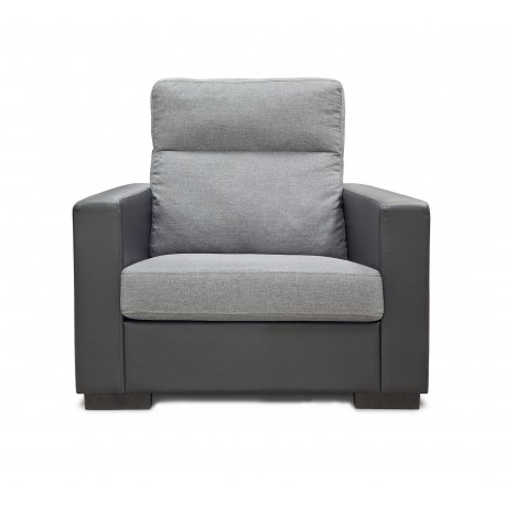 King Koil Denver 1 Seater Sofa (Pebble)