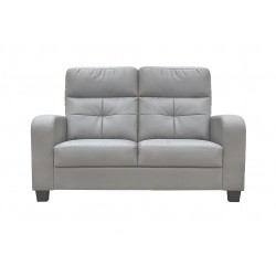 King Koil Trenton PVC 2 Seater Sofa (Light Grey)
